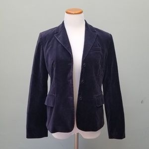 J Crew Navy Velvet Blazer Jacket
